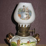 Souvineer Mini Ceramic Oil Lamp Marked Danmark