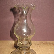 Very Early Mini Oil Lamp with No Turn Up Knob