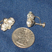 REDUCED Unmarked Prong Set Screwback Earrings