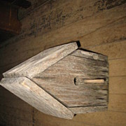 REDUCED Weathered Primitive Birdhouse