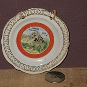 Miniature Occupied Japan Souvineer Plate of Vampire Peak