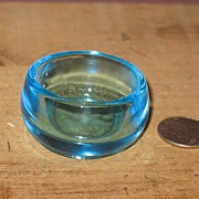 REDUCED Blue Glass Salt Cellar