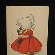 REDUCED Postmarked 1914 and Signed Sunbonnet Baby Postcard