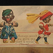 REDUCED Postmarked 1914 Black Americana Postcard