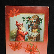 REDUCED Postmarked 1910 Embossed German Made Christmas Postcard