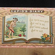 REDUCED Unused Embossed Wounded Cupid Valentine Postcard