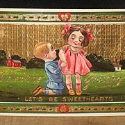 REDUCED Unused Slightly Embossed German Made Valentine Postcard