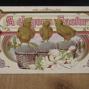 REDUCED Postmarked 1911 A Joyous Easter Postcard