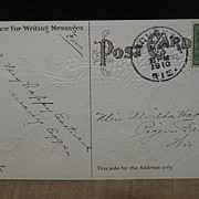 REDUCED Postmarked 1910 Made in Germany Embossed Easter Postcard