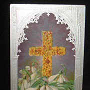REDUCED Postmarked 1913 Embossed Easter Postcard