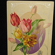 REDUCED Postmarked 1911 Embossed German Made Easter Postcard