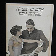 REDUCED Postmarked 1913 Romantic Couple Postcard