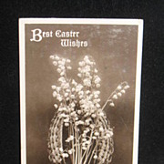 REDUCED Postmarked 1912 Real Photo Easter Still Life Postcard