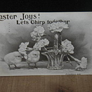 REDUCED Postmarked 1914 Real Photo Easter Postcard