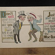 REDUCED Postmarked But No Year  Humour Postcard