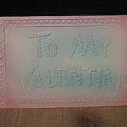 REDUCED Nicely Embossed Valentine Postcard