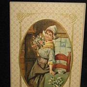 REDUCED Postmarked 1911 New Years Postcard With Dutch Lady