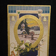 REDUCED 1905 to 1915 Embossed Merry X-Mas Postcard