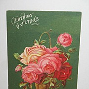 REDUCED 1900 to 1908 Embossed Birthday Postcard