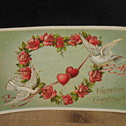 REDUCED Postmarked 1914 Printed in Germany Embossed Valentine Card