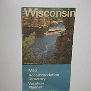 REDUCED 1977 Wisconsin Pull Out Map By Standard Oil