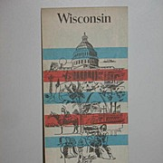 REDUCED 1976 Phillips 66 Wisconsin Map