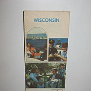 REDUCED 1972 Citgo Wisconsin Map