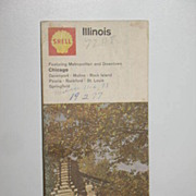 REDUCED 1968 Shell Illinois Maps