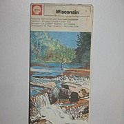 REDUCED 1973 Shell Wisconsin Map