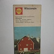 REDUCED 1968 Shell Wisconsin Map