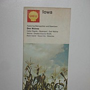 REDUCED 1968 Shell Iowa Map