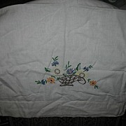 Single Embroidered Pillow Case out of Very Soft Muslin Style Clothe