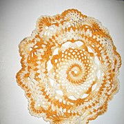 Gold and White Variegated Crocheted Dollie