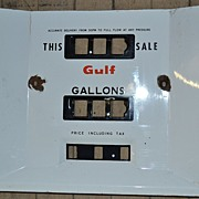 Mid 1950's Porcelain Panel for Gulf Oil Gas Pump