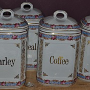 Marked Epiag DF Czechoslovakian 5 Canister Set