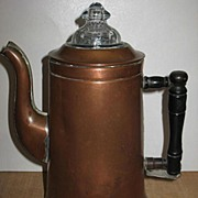 Copper Coffee Pot with a Fire King Glass Top