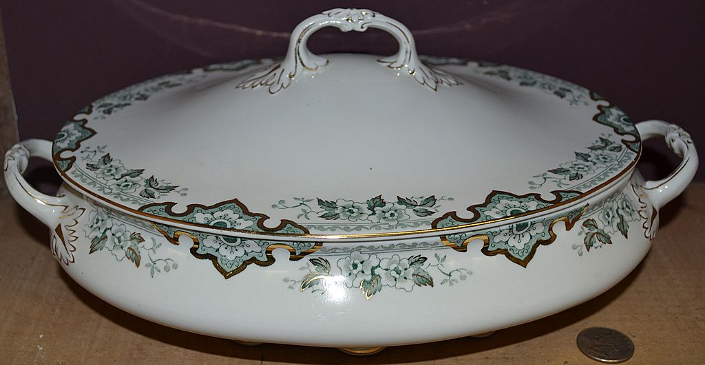 "John Maddock & Sons England ""Thelma"" Pattern Oval Covered Casserole"