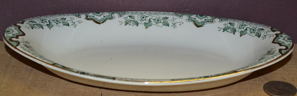 John Maddock & Sons England &quot;Thelma&quot; Pattern Oval Relish Bowl