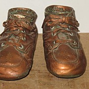 Bronzed Pair of Baby Shoes