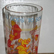 "1971 Archie Comics Jelly Glass Sabrina on Back ""Hot Dog Goes To School"""