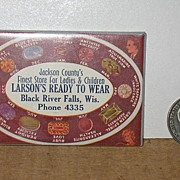 Jackson County's Larson's Ready To Wear Advertising Mirror