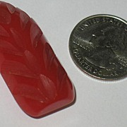 Carved Red Bakelite Clip