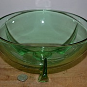 Duncan Miller Blank #12 Green Depression Serving or Berry Bowl