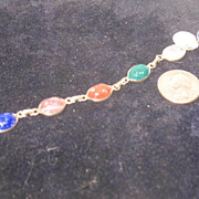 Multi-colored Scarab Bracelet