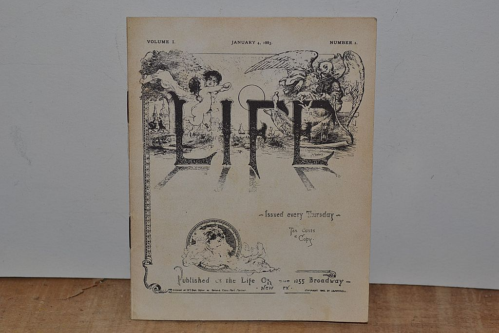 January 4,1883 Vol. 1 #1 Life Booklet 1st Issue
