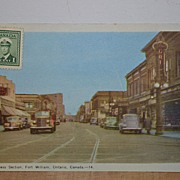 SALE Unused 1930's or 1940's Postcard Fort William  Ontario Canada