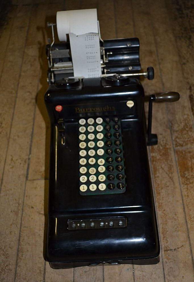Burroughs Adding Machine # 3-309667