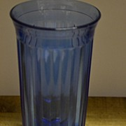 "SALE ""Aurora"" Depression Cobalt Tumbler by Hazel Atlas"