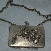 Silverplated Brass Art Nuveau Coin Purse