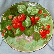 Strawberry design Wisconsin Souvineer Plate